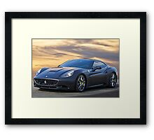 2012 Ferrari California 'Satin Black' Framed Print