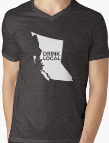 British Columbia Drink Local BC Mens V-Neck T-Shirt