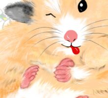 Cute Syrian Hamster Honey Sticker