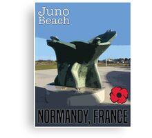 Juno Beach Poster Canvas Print