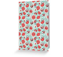 Poppy Pandas Greeting Card