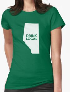Alberta Drink Local AB Womens Fitted T-Shirt
