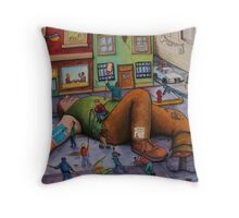 Gulliver Takes Manhattan Throw Pillow