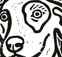 Dog Portrait Linocut  Sticker