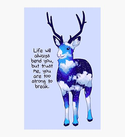"""""""You Are Too Strong to Break"""" Night Sky Deer Photographic Print"""