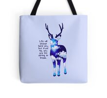 """""""You Are Too Strong to Break"""" Night Sky Deer Tote Bag"""