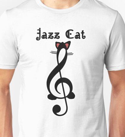 The Jazz Cat (w/text) Unisex T-Shirt