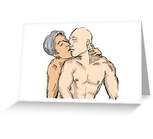 Charles and Eric making out Greeting Card