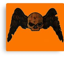 Winged Skull 'HEAD SHOT' Canvas Print