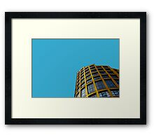 London skyline in yellow and blue Framed Print
