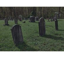 """ 'THE CEMETERY', a Series, #2, Shadows "" Photographic Print"