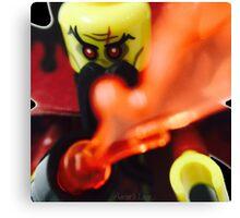 Lego Evil Wizard minifigure Canvas Print
