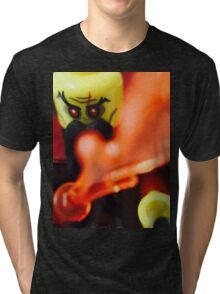 Lego Evil Wizard minifigure Tri-blend T-Shirt