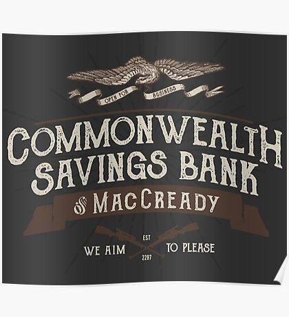 Commonwealth Savings Bank of MacCready Poster