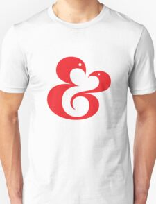 Ampersand (01 - Red on White) Unisex T-Shirt