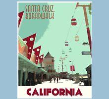 Vintage Travel Poster Santa Cruz Unisex T-Shirt