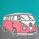 VW Camper Van ( Pink ) by Adam Regester