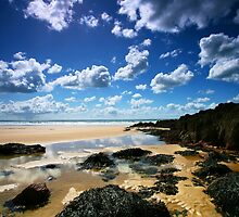 Rock Pool Clouds by Mark Haynes Photography