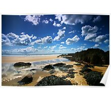 Rock Pool Clouds Poster