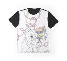 Party Animal ! Bulldog Graphic T-Shirt
