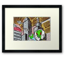 Peace out world  Framed Print