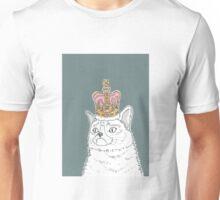 Grumpy Cat In A Crown Unisex T-Shirt