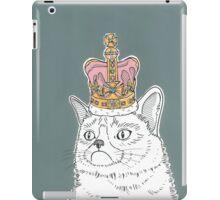 Grumpy Cat In A Crown iPad Case/Skin
