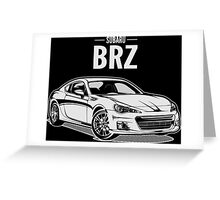 Subaru BRZ Greeting Card