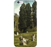 """"""" 'THE CEMETERY' """", a Series,  #14, A Countryside Cemetery """"  iPhone Case/Skin"""
