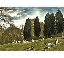 """ 'THE CEMETERY' "", a Series,  #14, A Countryside Cemetery ""  Photographic Print"