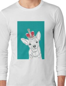 Chihuahua In A Crown Long Sleeve T-Shirt