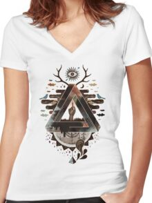 All Impossible Eye Women's Fitted V-Neck T-Shirt