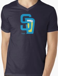 San Diego Baseball and Beer  Mens V-Neck T-Shirt