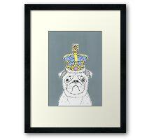 Pug In A Crown Framed Print