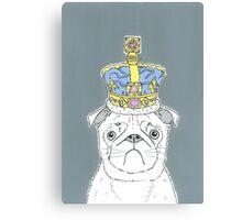 Pug In A Crown Canvas Print