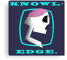 Knowl-edge (Lt. Blue) Canvas Print