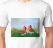 Male Northern Cardinals in Spring  Unisex T-Shirt