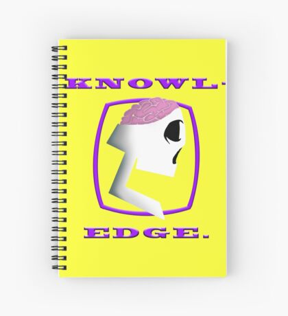 Knowl-edge (Purps) Spiral Notebook