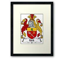 Kirk Coat of Arms / Kirk Family Crest Framed Print