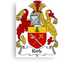 Kirk Coat of Arms / Kirk Family Crest Canvas Print