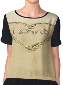 Footprints in the Sand  Chiffon Top