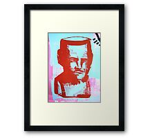 red bust Framed Print