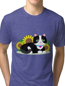 Tuxedo Cat Tri-blend T-Shirt