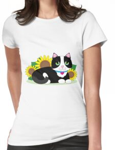Tuxedo Cat Womens Fitted T-Shirt
