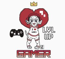 Gamer Girl furBag Kids Tee