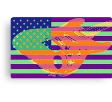 Psychedelic American Flag stratocaster Canvas Print