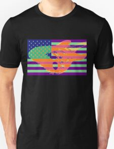 Psychedelic American Flag stratocaster T-Shirt