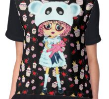 Sad Kawaii Girl  Chiffon Top