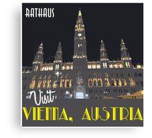 Vienna Rathaus Vintage Travel Poster Canvas Print