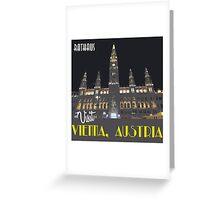 Vienna Rathaus Vintage Travel Poster Greeting Card